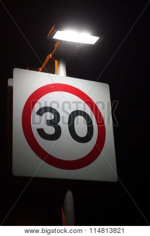 Thirty Speed Limit Sign
