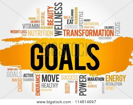 Goals Word Cloud, Fitness, Sport