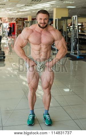 Muscular bodybuilder.