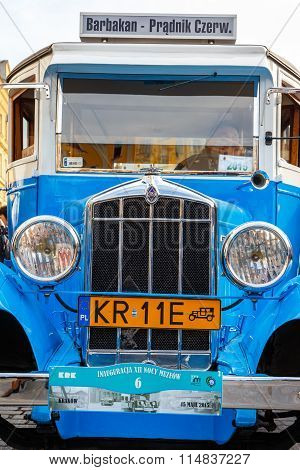 Krakow, Poland - May 15, 2015: Rugby, Classic Old Car On The Rally Of Vintage Cars In Krakow, Poland