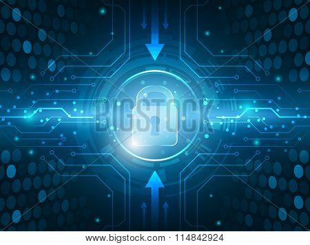 Abstract technology security global innovation network background.