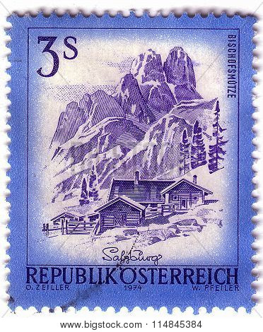 Austria - Circa 1974: A Stamp Printed In Austria From The