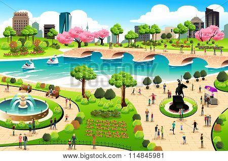 People Visiting A Public Park