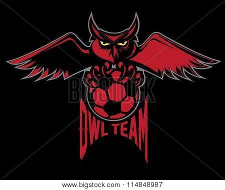 Sport Football Emblem Owl Team