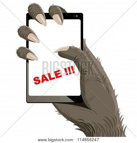 Gorillas big smartphone
