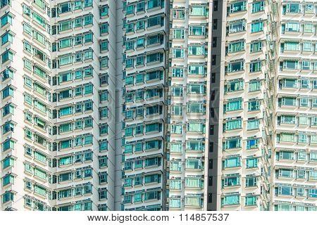 Hign density residential building in Hong Kong poster