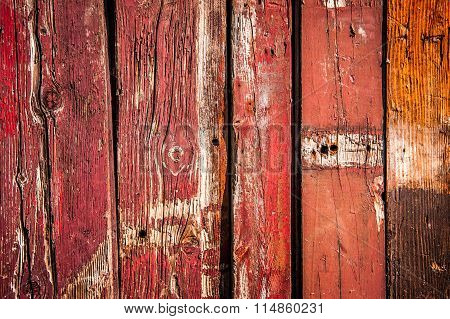 old wall from red boards