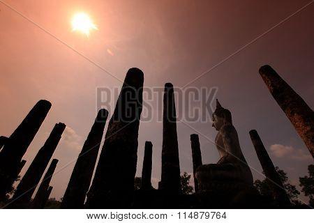 Asia Thailand Sukhothai Temple Mahathat
