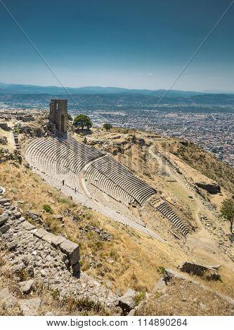 Ancient amphitheater in Acropolis of Pergamon, Turkey