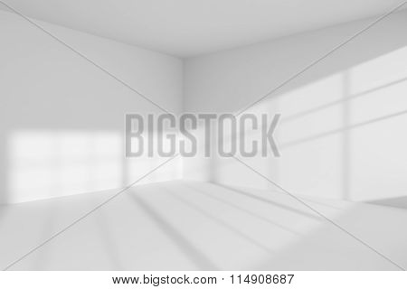 Empty White Room Corner Interior