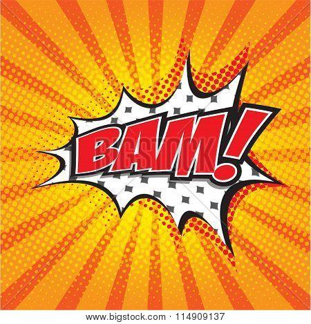 BAM! wording sound effect
