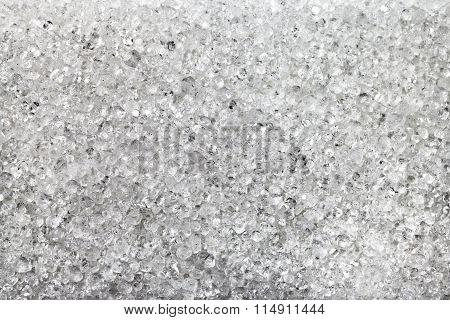 Crystals Of Fructose (fruit Sugar) Close Up