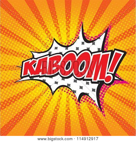 KABOOM! wording sound effect