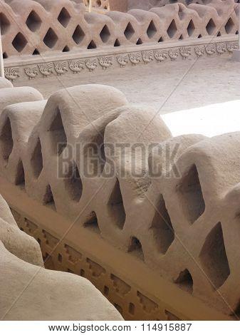 Ancient Decorative Construction In Chan Chan In Trujillo Peru