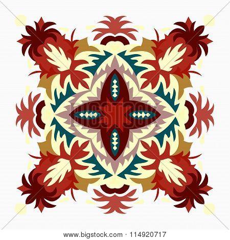 Colored Background. Beautiful Mandala. Vector Illustration.
