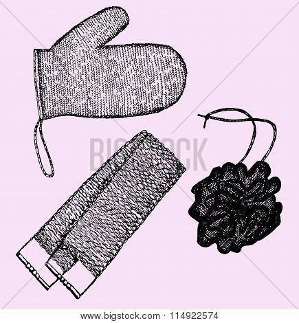 wisp of bast, washcloths
