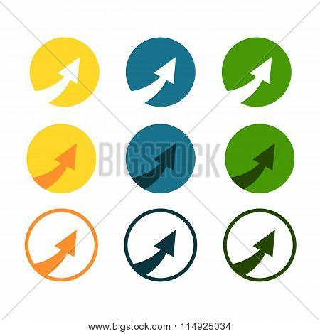 Eps 10 Vector Arrow Icon. Arrow Abstract Logo Template. Up Arrow, Cursor Arrow Icon, Arrowheads. Arr