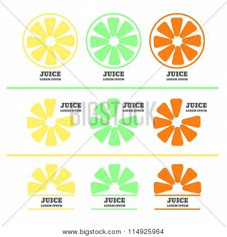 Lime Or Lemon Fruit Drink Logo Icon Template Design. Orange Logo. Fresh, Juice, Drink, Yellow, . Lim