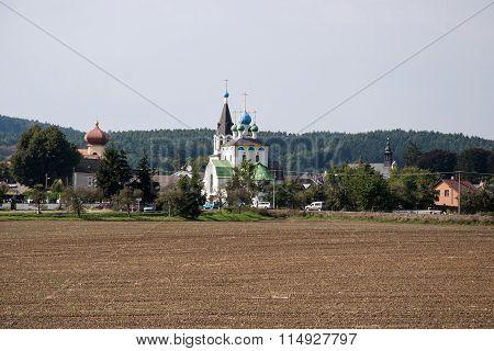 Chudobin village with three churches