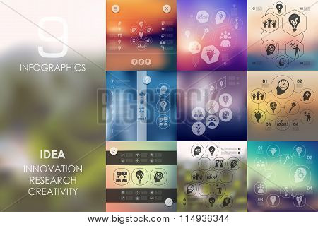 idea infographic with unfocused background