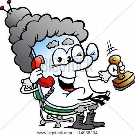 Vector Cartoon Illustration Of A Cute Grandma Paper Mascot