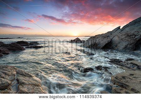 Stunning Cornish Beach Sunset