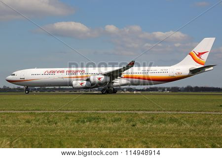 Surinam Airways Airbus A340 Airplane