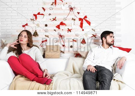 Young Beautiful Couple Of Loving Man And Woman