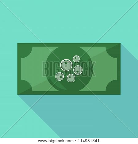 Long Shadow Banknote Icon With Oocytes