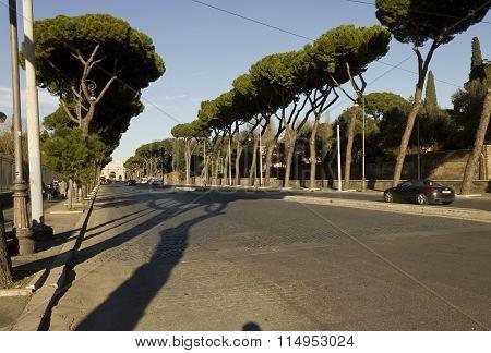 Via Di San Gregorio Street In Rome