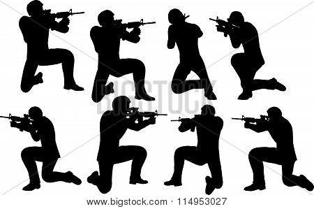 Businessman Soldier Shoot