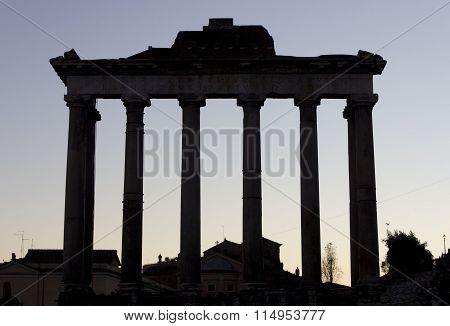 The Temple Of Saturn In Foro Romano