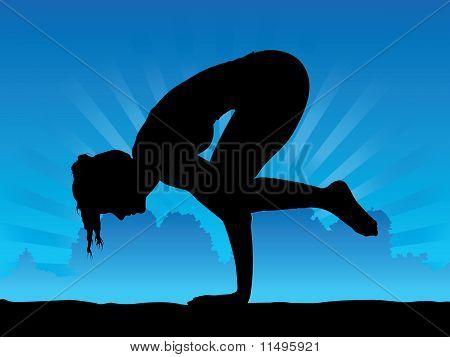 yoga  crow pose vector  photo free trial  bigstock