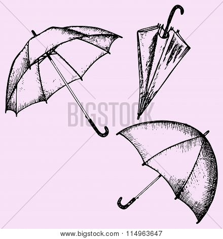 set of umbrella