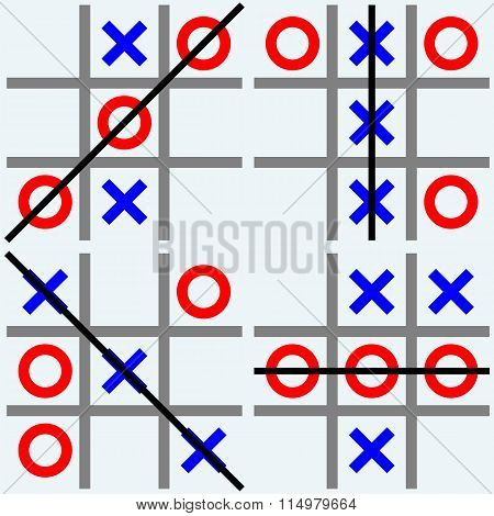 Scribble tic tac toe