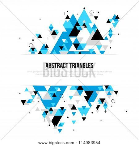 Abstract background with geometric triangle shapes
