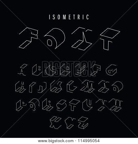 Isometric font icon