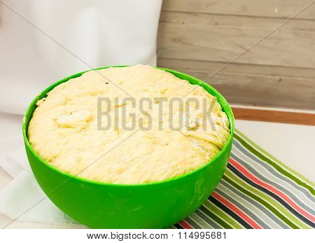 Yeast Dough Rises In A Bowl