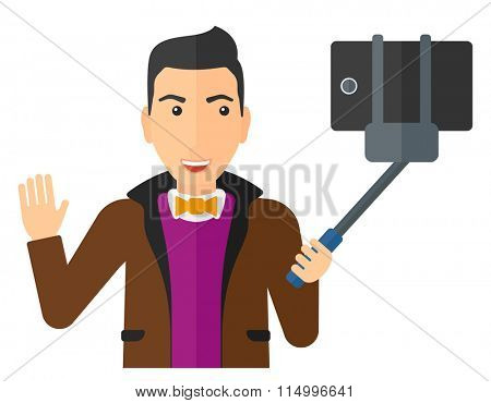 Man making selfie.