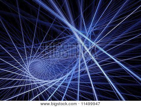 Blue fractal.