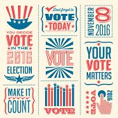 banner collection to encourage voting in 2016 elections poster
