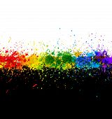 Color paint splashes. Gradient vector background. Artwork template. poster