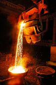 the photo of the Liquid Molten Steel Industry Foundry Factory poster