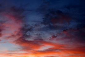Sonnenuntergang-Himmel