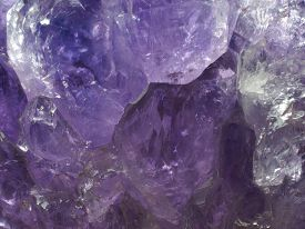 Closeup macro of Amethyst Crystal