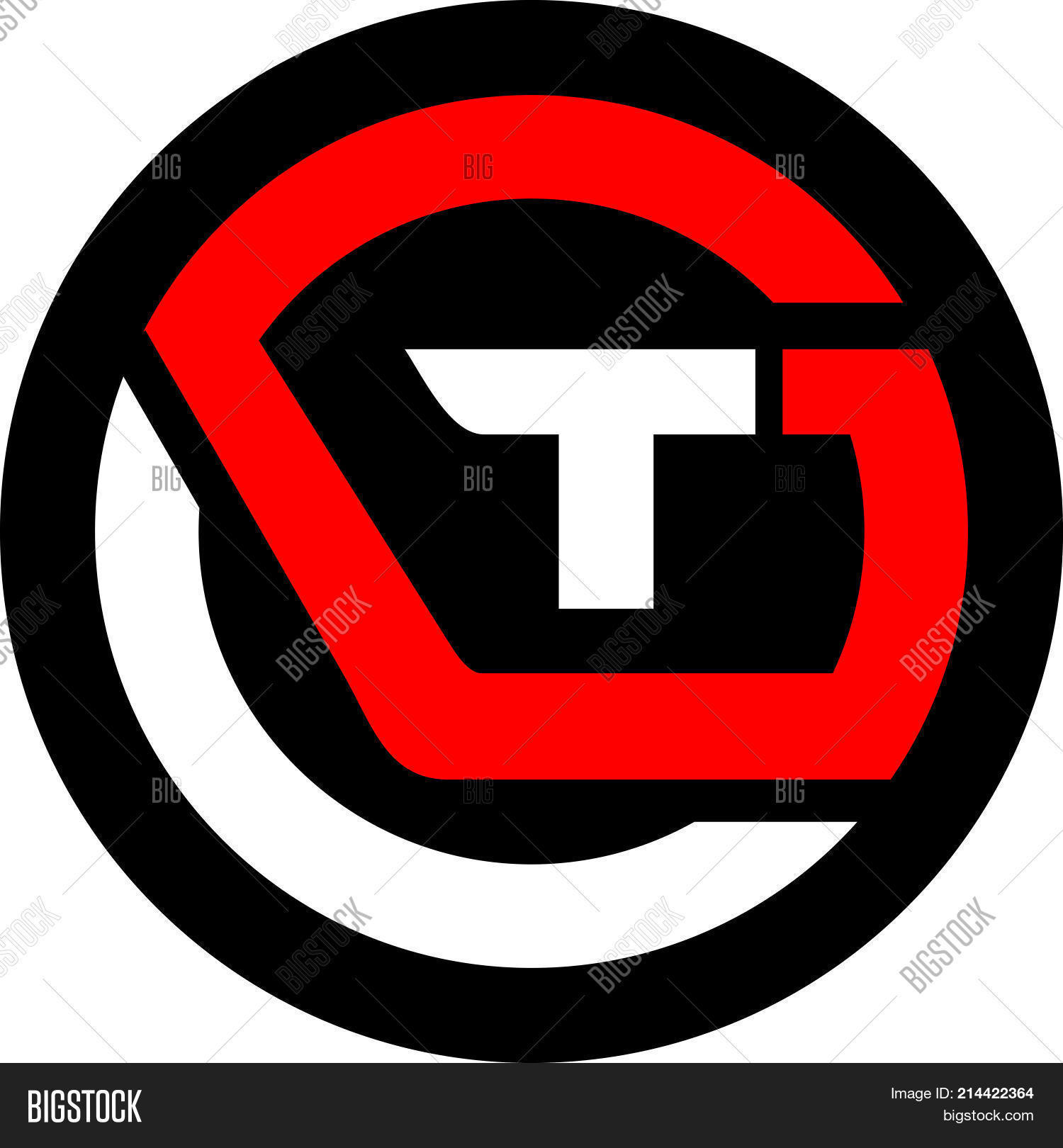 Letter T G Logo Vector Photo Free Trial Bigstock