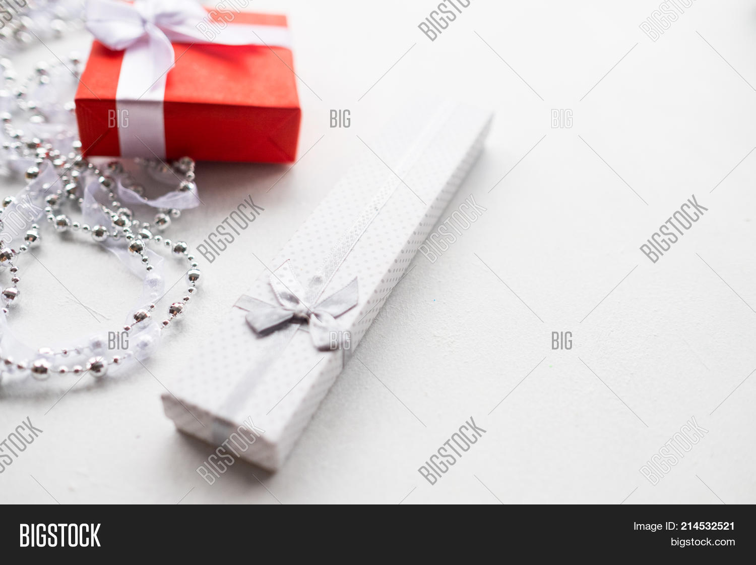 fashionable accessorize gift on white background expensive and luxury jewelry present for birthday new
