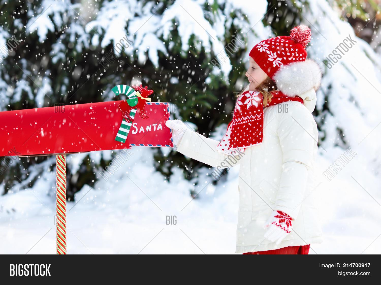 Child Letter Santa Christmas Mail Image  Photo  Bigstock