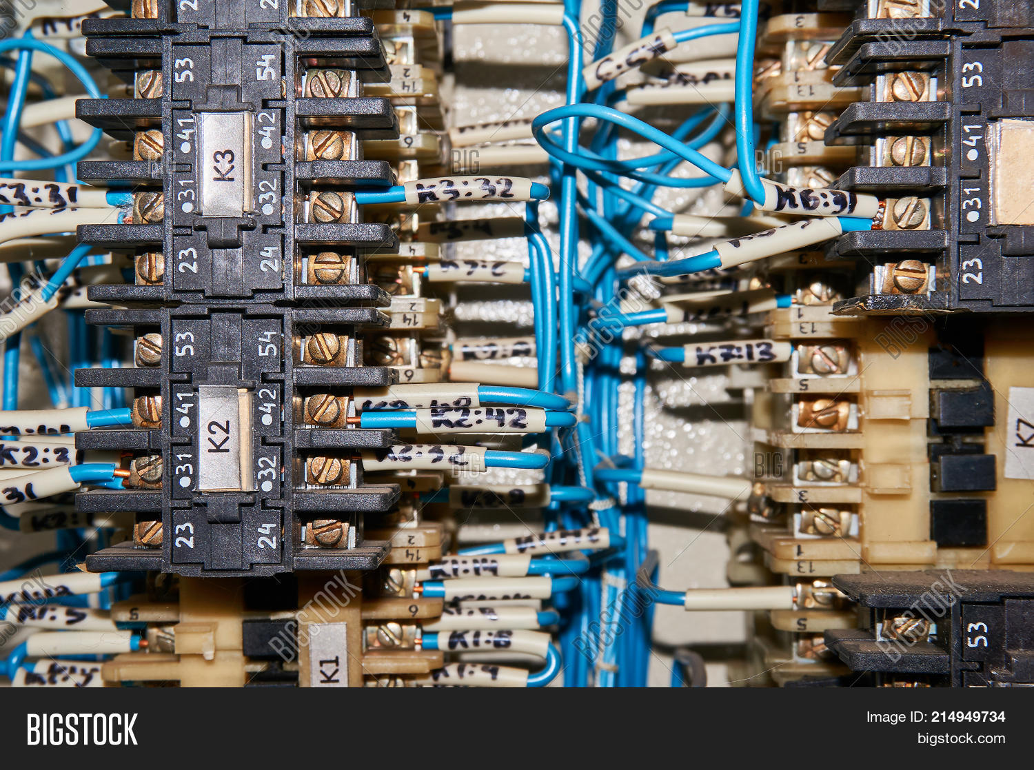 Some Electrical Relay Image Photo Free Trial Bigstock Wiring A Base Is Mounted On The Mounting Panel Relays Inserted In Or