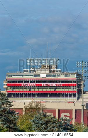 Memorial Stadium On The Campus Of The University Of Indiana